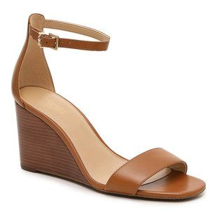Michael Kors Fiona Brown Wedges 8.5